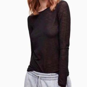 Aritzia TNA Earlswood long sleeve shirt